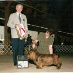 Desi ~ BOSS GCH Remedi Wild Cherry Heart's Desire    Desi did it again with going to her 2nd National Specialty went BOS at the National and then at all the trailer shows.  Way to go Desi